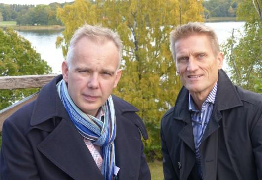 Joachim Wallberg, rådgivare på Hitachi Data Systems i Norden, specialiserad på sjukvårdssektorn, och Patrick Borg, Country Manager på Hitachi Data Systems i Sverige och Baltikum.