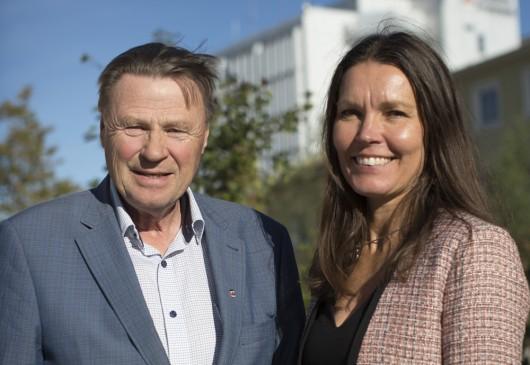 Inge Andersson (S), kommunalråd och Jeanette Nilsson, tillväxtchef i Bodens kommun.
