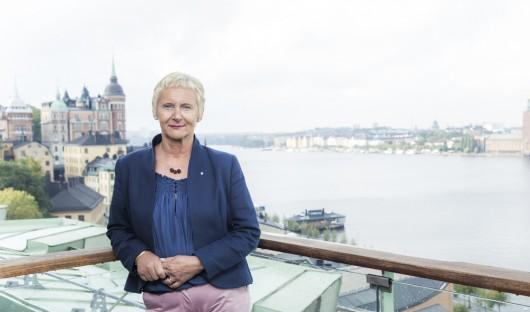 Lena Micko, SKL:s första kvinnliga styrelseordförande, vill satsa extra mycket på välfärden. Foto: Rickard L Eriksson