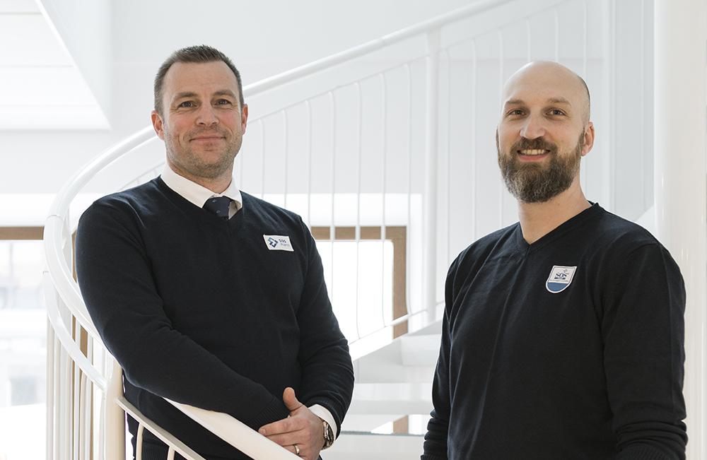 Johan Rudqvist, tjänsteutvecklare och Andreas Norrby, tjänsteägare på SOS Alarm. Foto: Patrik Lindqvist