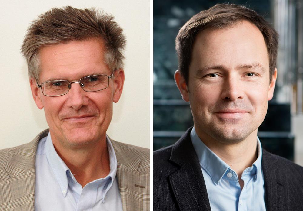 Peter Graf, vd för vårdbolaget Tiohundra och Jean Luc af Geijerstam, läkare och enhetschef  på E-hälsomyndigheten (Foto: Magnus Glans/Svartpunkt).