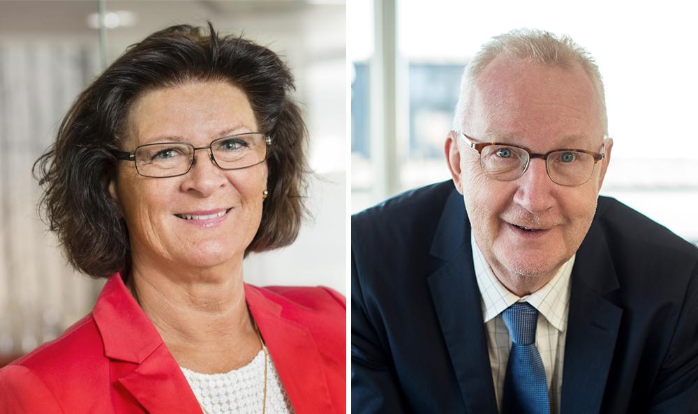 Monica Ericsson, vd för KFS (Foto: Anna Molander) och Markus Gustafsson, vd för PACTA (Foto: kickifotograf.se).