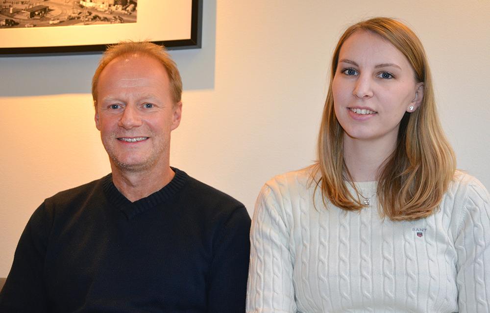 Peter Nohrstedt, hållbarhetsansvarig och Louise Svensson, hållbarhetssamordnare på SKL Kommentus.