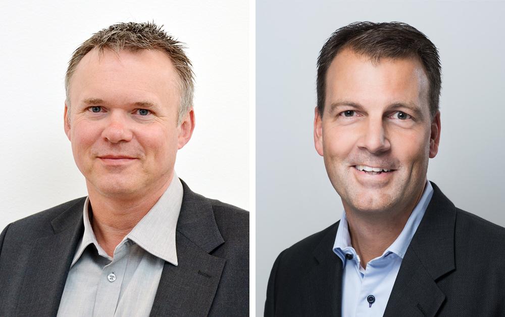 Torbjörn Larsson, ordförande i Kommits styrelse och Stefan Palm, vd på Lumagate (Foto: Ernst Henry Photography).