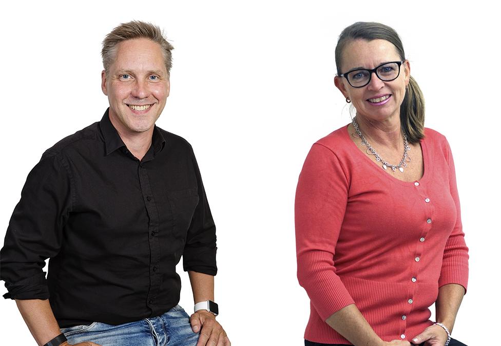 Kjell Lundblad och Katarina Nilsson.