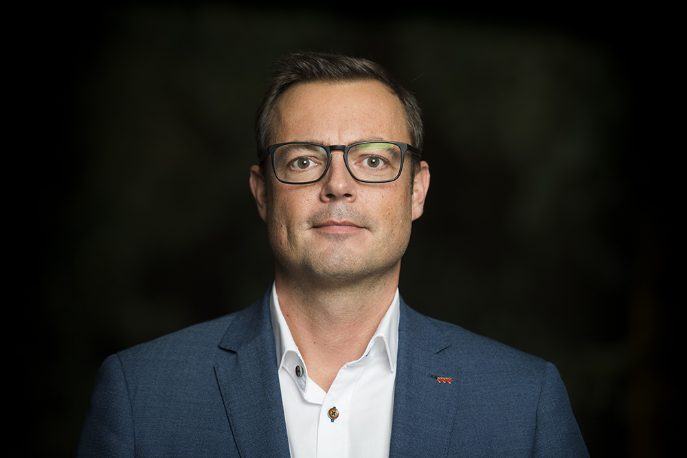 Jonas Bergman (M), kommunstyrelsens ordförande i Halmstad. Foto: Hallandsposten