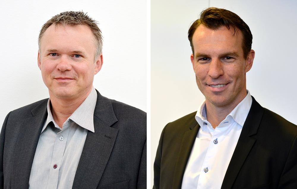 Torbjörn Larsson, ordförande för KommITS och John Torgersson, vd för Pulsen Integration.