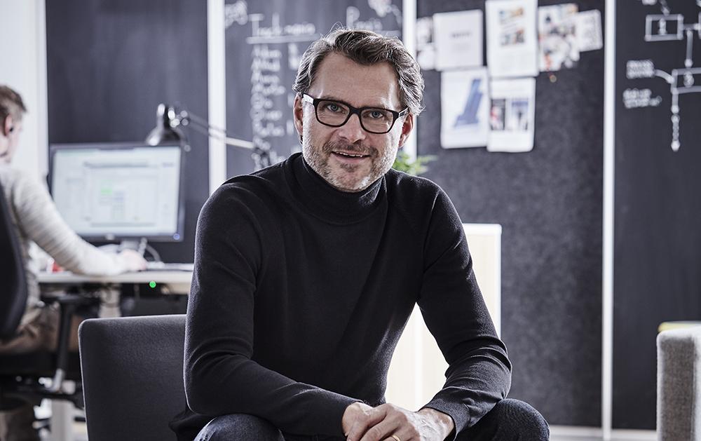 Pär Hedin, ansvarig för området digitala medarbetare hos PS Provider.