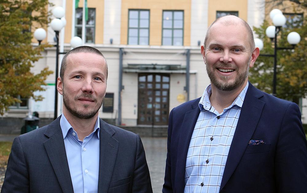 Thomas Molén, CDO och Johan Gammelgård, direktör Administration och Innovation i Umeå kommun.