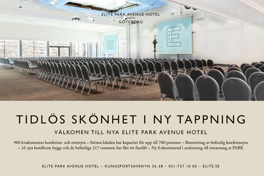 Annons. Välkommen till nya Elite Park Avenue Hotel